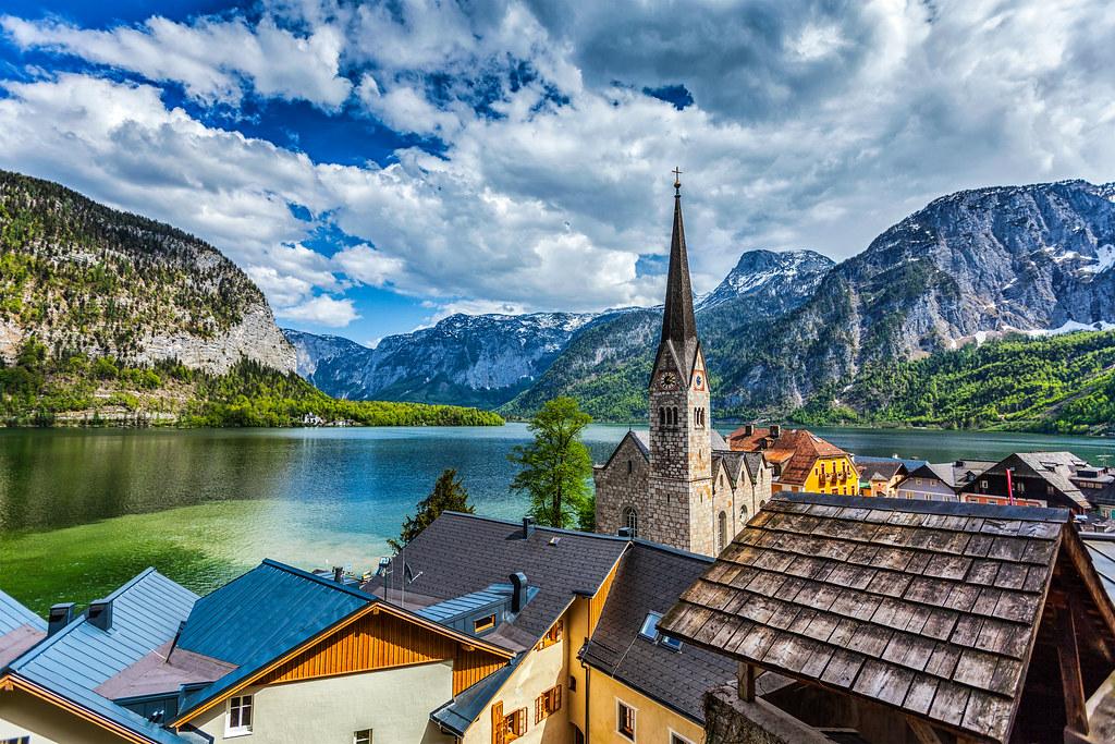 奧地利的哈爾施塔特一景。