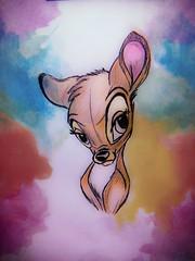 #Bambi #desenho #arte #pintura #aquarela #walldisney #disney