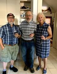 Blue plaid triplets: Ali, Bob & Lin, Photo by CRudin