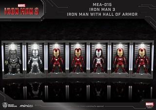 野獸國 Mini Egg Attack 系列《鋼鐵人3》裝甲格納庫-鋼鐵人 馬克1-7 Iron Man MarkI-VII With Hall of Armor MEA-015
