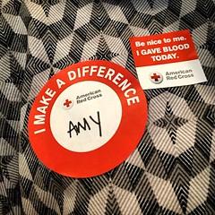 I helped save lives today! #DonateBlood [233/365]