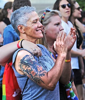 Spectator with Tattoos