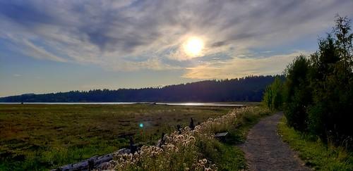 kitsappeninsula thelerwetlands galaxys9 hoodcanal unionriver sunset trail cloudsstormssunsetssunrises saltmarsh