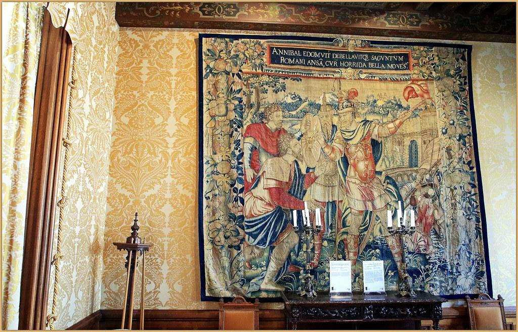 Dans le grand salon, Château de Chaumont, Chaumont-sur-Loire, Loir-et-Cher, France