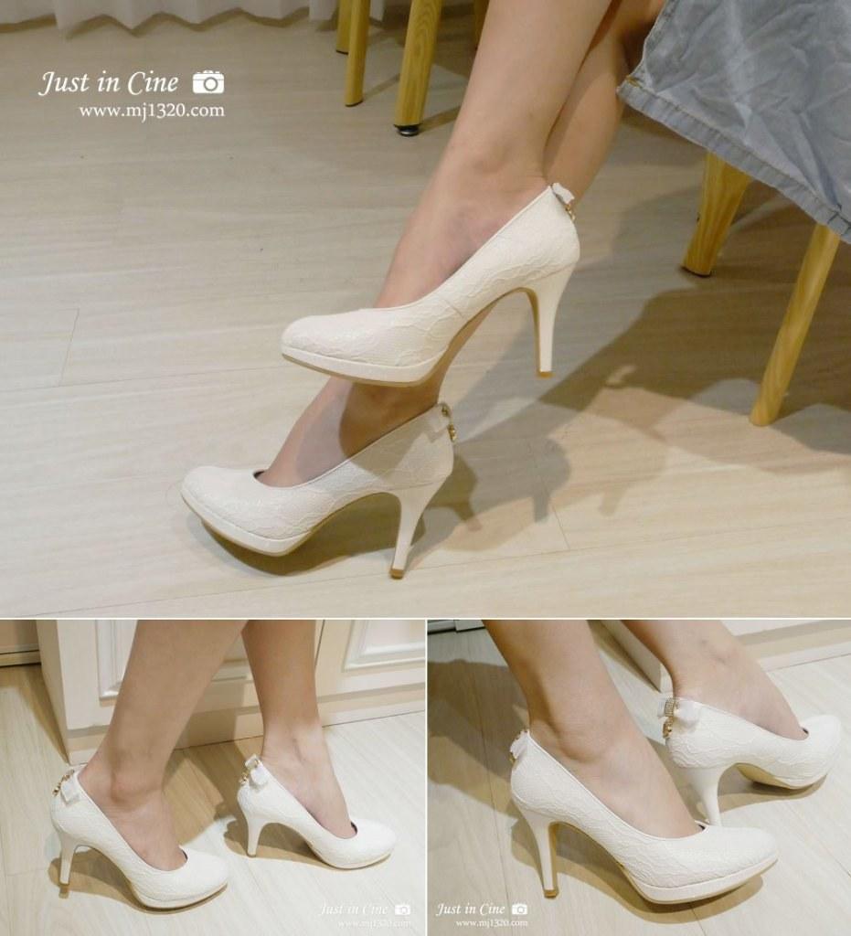 浪漫蕾絲婚鞋