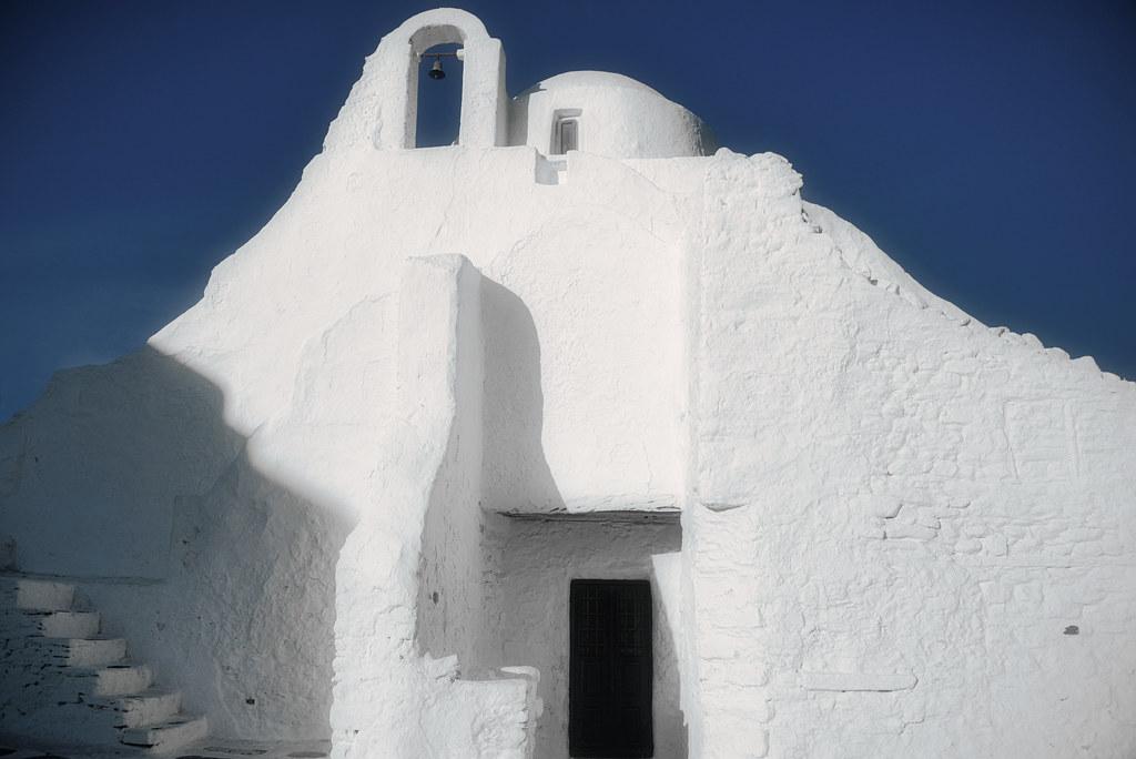 Small church in Mykonos island