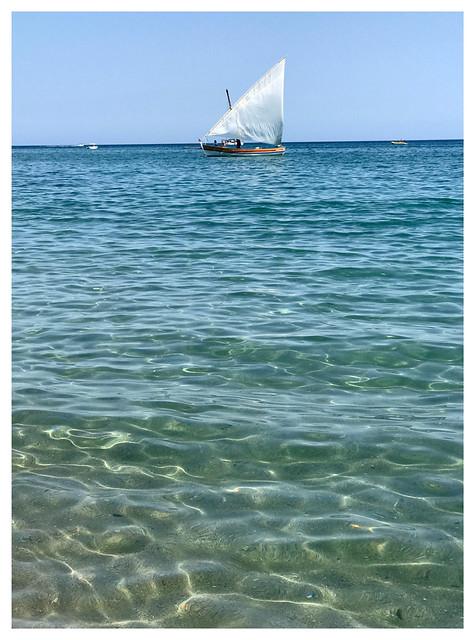 Voile catalane sur mer calme 🌅