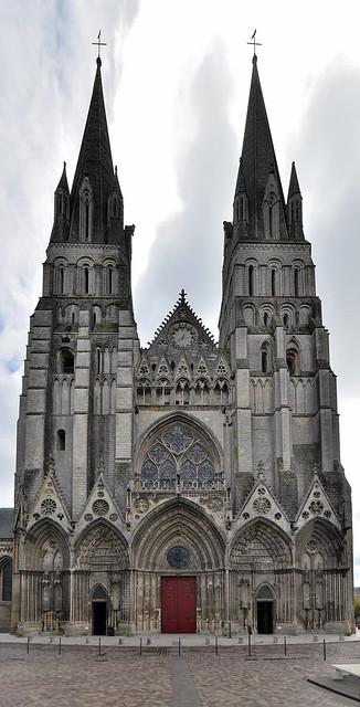 Bayeux (Calvados) - Cathédrale Notre-Dame - Façade occidentale (explore 22-08-19)