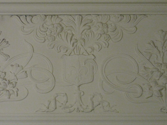 Art Nouveau Mouldings Above the Picture Rail of the Entrance Hall of