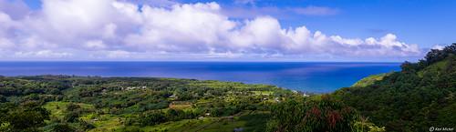 clouds hawaii kenmickelphotography landscape ocean outdoors roadtohana photography water haiku unitedstatesofamerica