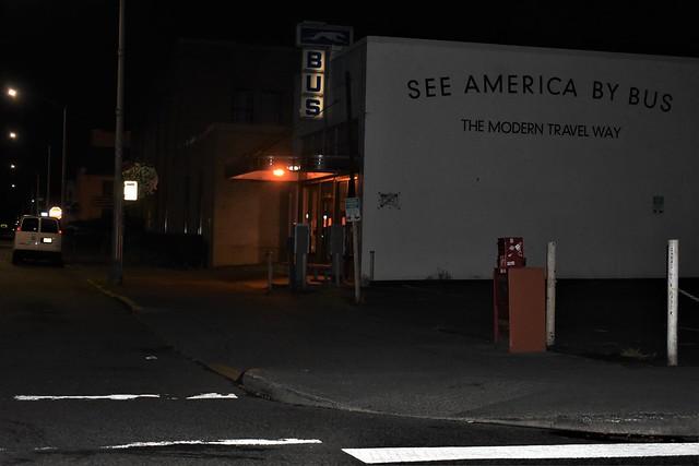 bus station--night