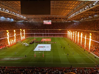 Wales V England rugby match, Cardiff, 17th August 2019
