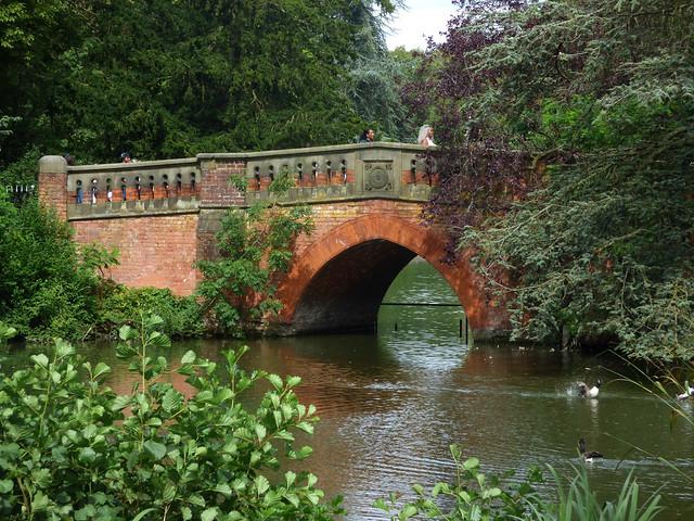 Cannon Hill Park - footbridge in the lake