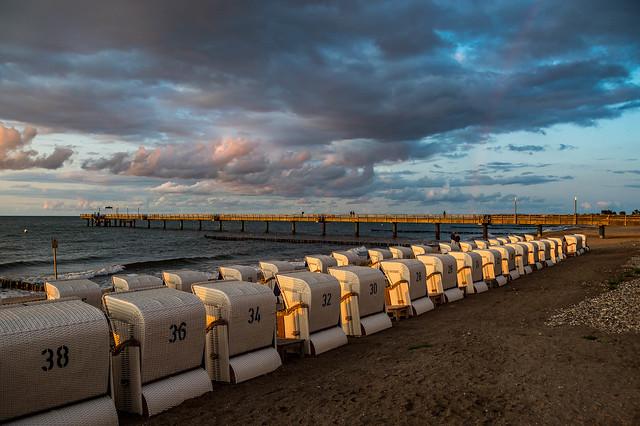 Beach chairs on the beach of Heiligendamm - 5075