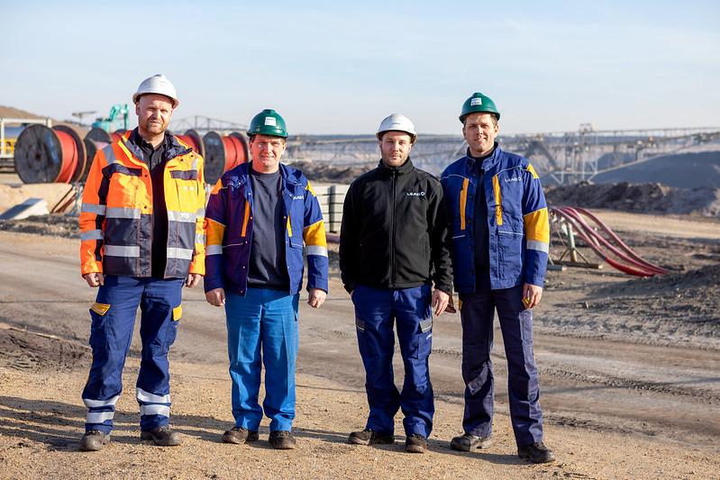 Ablaschung ist Teamarbeit im Tagebau Nochten