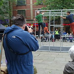 Photographer capturing Captive on the Flag Market, Preston