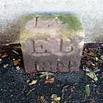 Old boundary stone at Broadgate, Preston