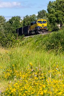 ASG Gravel Empties on the Alaska Railroad