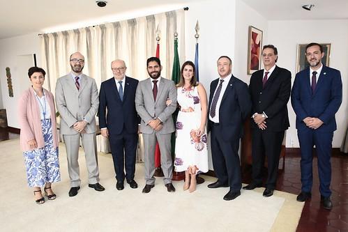 Visita a embaixada da Holanda e da Espanha