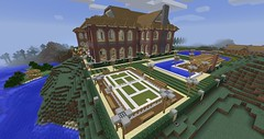 How to build a pool house in Minecraft