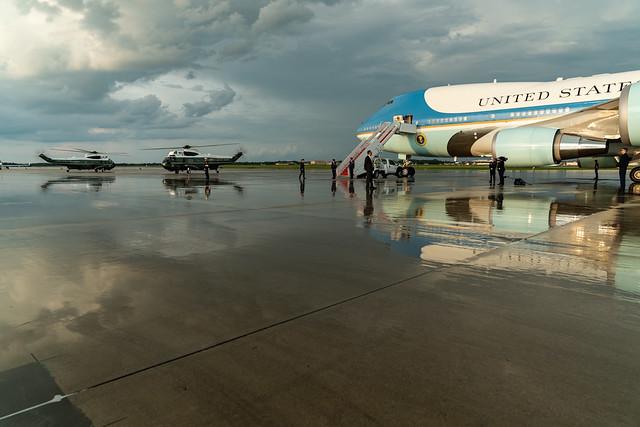 President Trump Returns from Kentucky