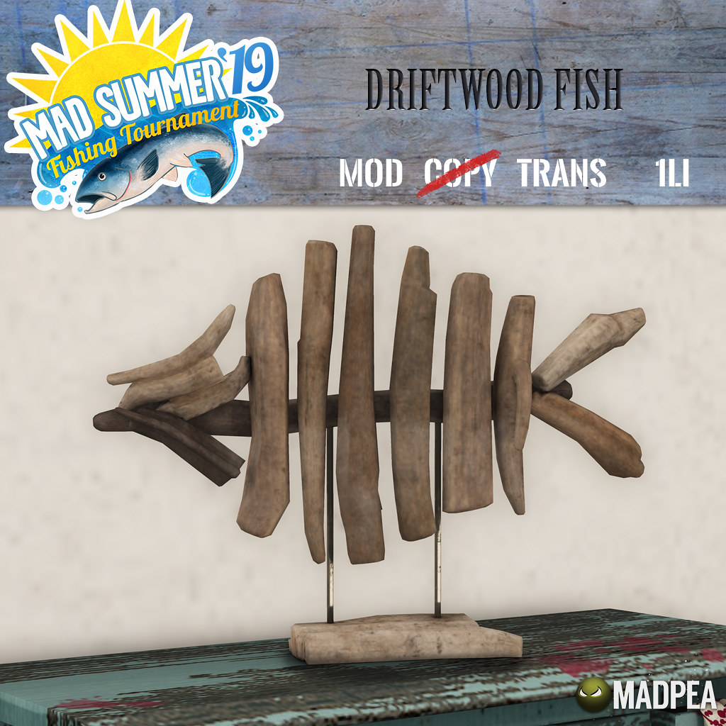 MadPea Mad Summer '19 Fishing Tournament Shiny:  Driftwood Fish!