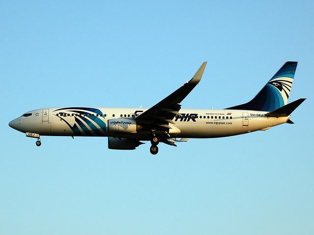 SU-GEJ Boeing 737-800WL of EgyptAir