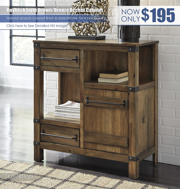 Roybeck Light Brown Bronze Accent Cabinet_T411-40