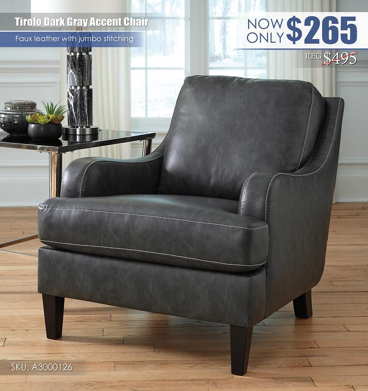 Tirolo Dark Gray Accent Chair_A3000126