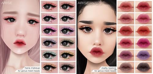 .ARISE. Hana Makeup & Melly Lipstick