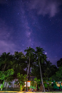 Milky way in front of my home