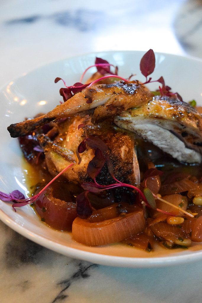 Quail with Cinnamon, Red Onion and Pine Nuts at Bar Douro, London Bridge