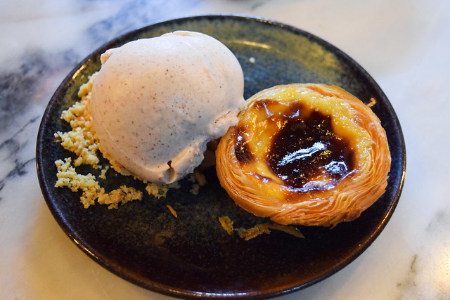Pastel de nata with Cinnamon Ice Cream at Bar Douro, London Bridge