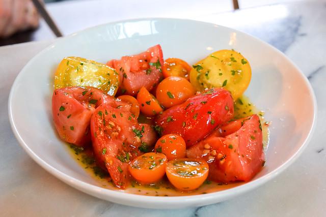 Heirloom Tomato Salad with White Port Vinagrette at Bar Douro, London Bridge