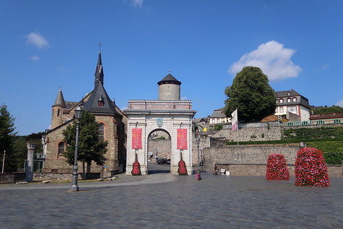 Platz vor dem Landtor, der Zufahrt zur Altstadt von Weilburg
