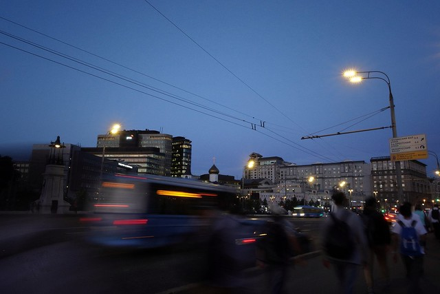 Testing my new Sony RX100 IV on night Moscow streets