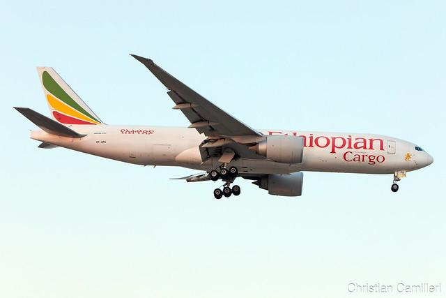 Ethiopian Cargo Boeing 777-F6N 'ET-APU' LMML - 22.08.20197823