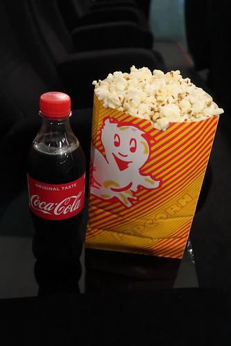 Coca Cola und Popcorn zum Kinofilm