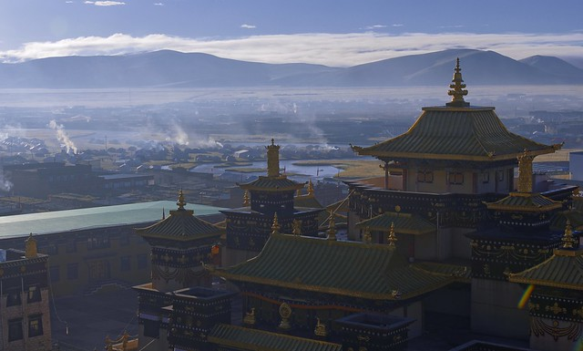 Sunrise at Sershul monastery, Tibet 2018