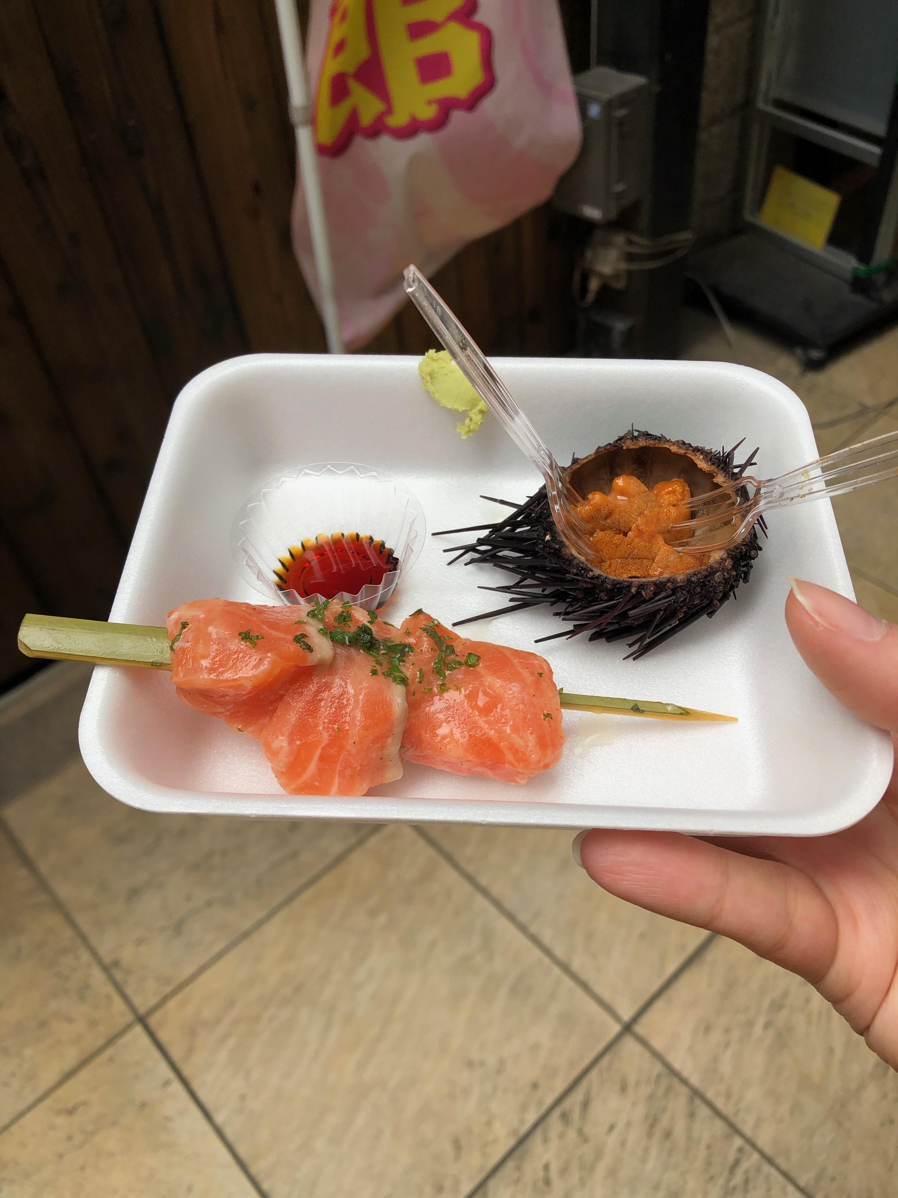 kyoto food diary - sashimi