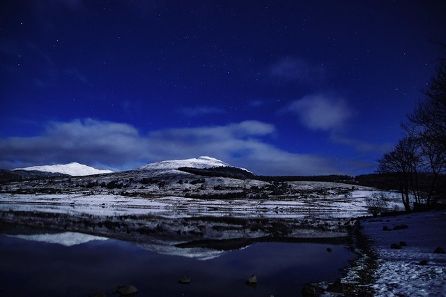 Moonlight and reflections