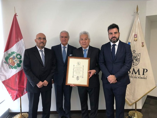 Fundación Carlos III nombró Miembro de Honor de su institución a la Universidad de San Martín de Porres