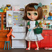 Blythe_A_Day: Empty Dollhouse (Empty Fridge)