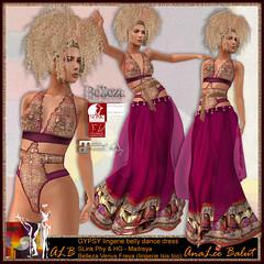 FREE in August - ALB GYPSY lingerie belly dance dress