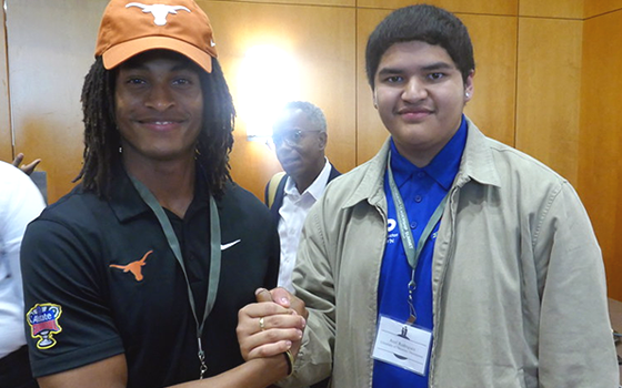 Chase Moore and Axel Rodriguez at the Texas Male Student Leadership Summit