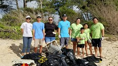 Hawaiian Electric at Bellows Beach Cleanup — Aug. 17, 2019: The collected litter was taken to the Waimanalo Refuse Convenience Center for proper disposal.