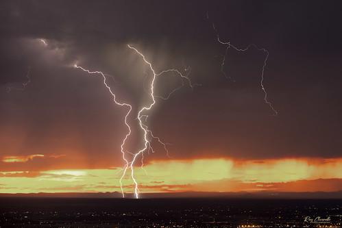 lightning storm weather clouds sunset elpaso texas monsoon rain sonya7iii sigmamc11 canonef70200mmf28lisiiusm