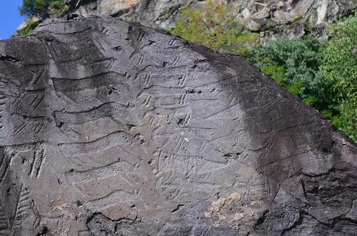 Carved Boulder by Jim