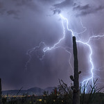 22. August 2019 - 18:17 - Monsoon lightning in Tucson AZ
