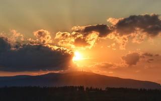 Sunset over Brocken